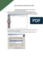 Cara Membuat DNS Dan Active Directory Di Windows Server 2003