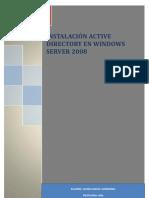 Instalación Active Directory en Windows Server 2008