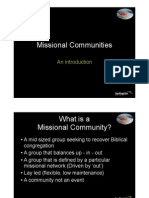 Session 3- Launch the Lifeboats - Missional Communities