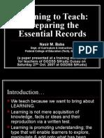 Planning of Classroom Instruction