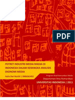 Potret Industri Media Massa Di Indonesia Dalam Kerangka Analisis Ekonomi Media