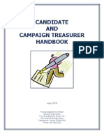 FL 2010 Candidate and Campaign Treasurer Handbook