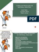 Produção de materiais para EAD