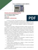 RELATÓRIO DA IV CONFERÊNCIA DO MEIO AMBIENTE