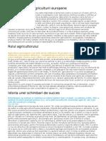 Caracteristicile agriculturii europene