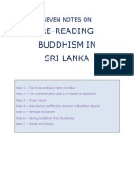 Seven Notes on Re-Reading Buddhism in Sri Lanka