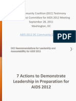 Recommendations to the Mayors Host Committee for AIDS 2012
