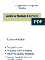 DOM 511 Design Considerations - Product & Service Design