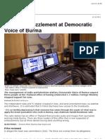 Allegation on Democratic Voice of Burma