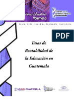 Tasas de ad de La Educación en Guatemala