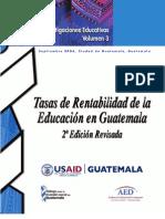 Tasas ad Educación Guatemala 2edición