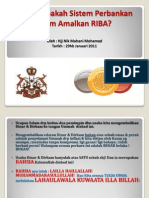 Apakah Sistem Perbankan Islam Amalkan RIBA