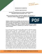 Programa de Gobierno Nestor Fabio Rico Rey