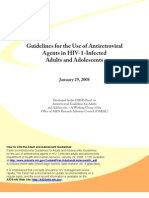 Guidelines for the Use of Anti Retro Viral Agents in HIV_1_Infected Adults and Adolescents