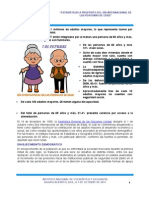 Estadísticas a propósito del día internacional de las personas de edad. 1 de octubre