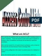 CCNA Presentation - ACL