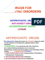 Drugs for Psyciatric Disorders