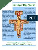Mission San Luis Rey Parish Bulletin for 10/02/2011
