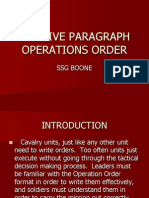The Five Paragraph Operations Order