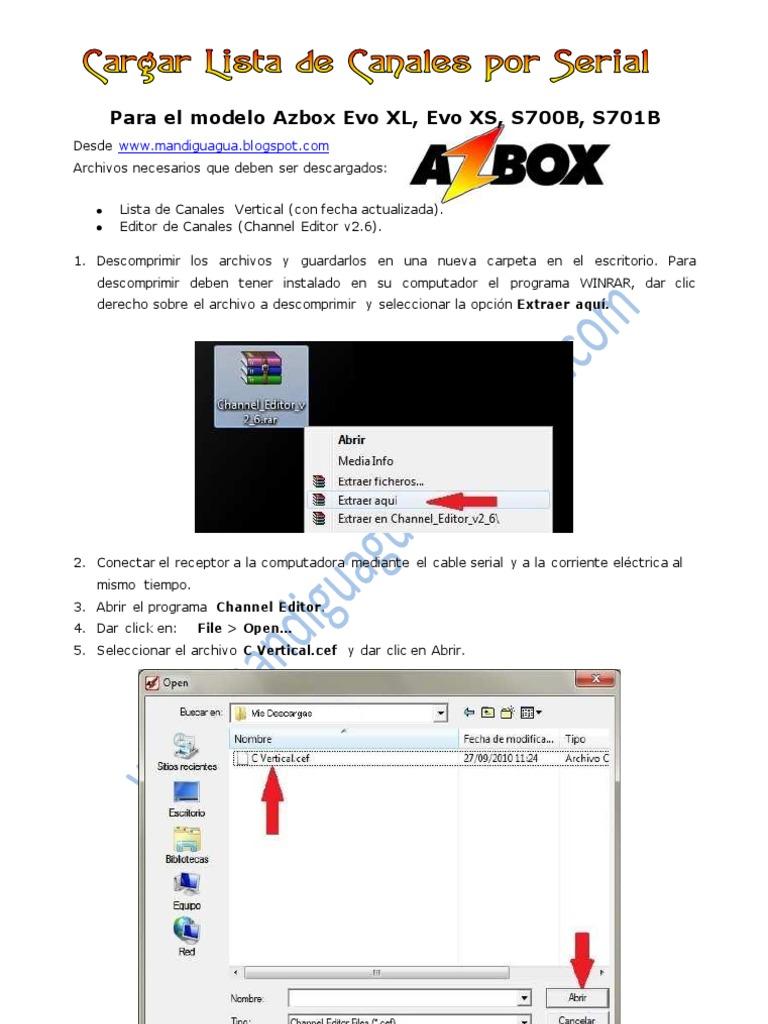 lista canales azbox evo xl