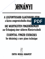 Dohnanyi Essential Finger Exercises