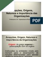Acepcoes, Origens, Natureza e Import an CIA Das Organizacoes