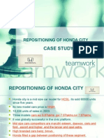 Re Positioning of Honda City