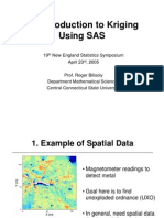 An Introduction to Kriging Using SAS