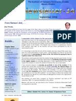 ICSI Mysore Newsletter Sept 2006