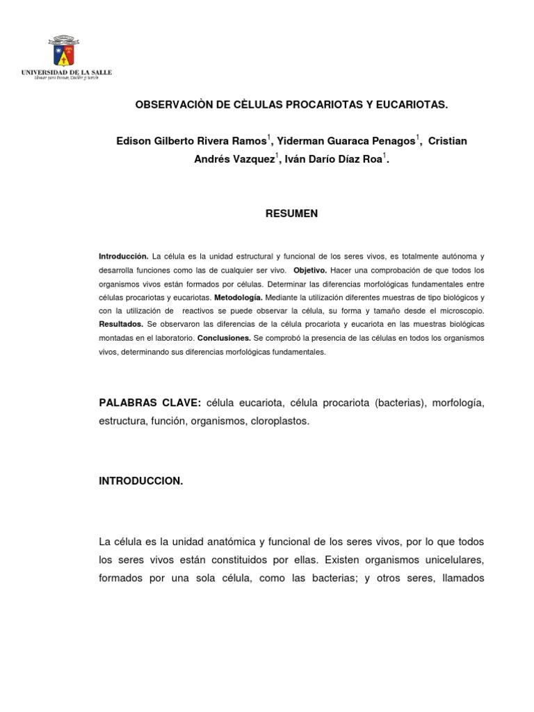 Lab Oratorio No.3 Celulas Eucariotas y Pro Car Iotas