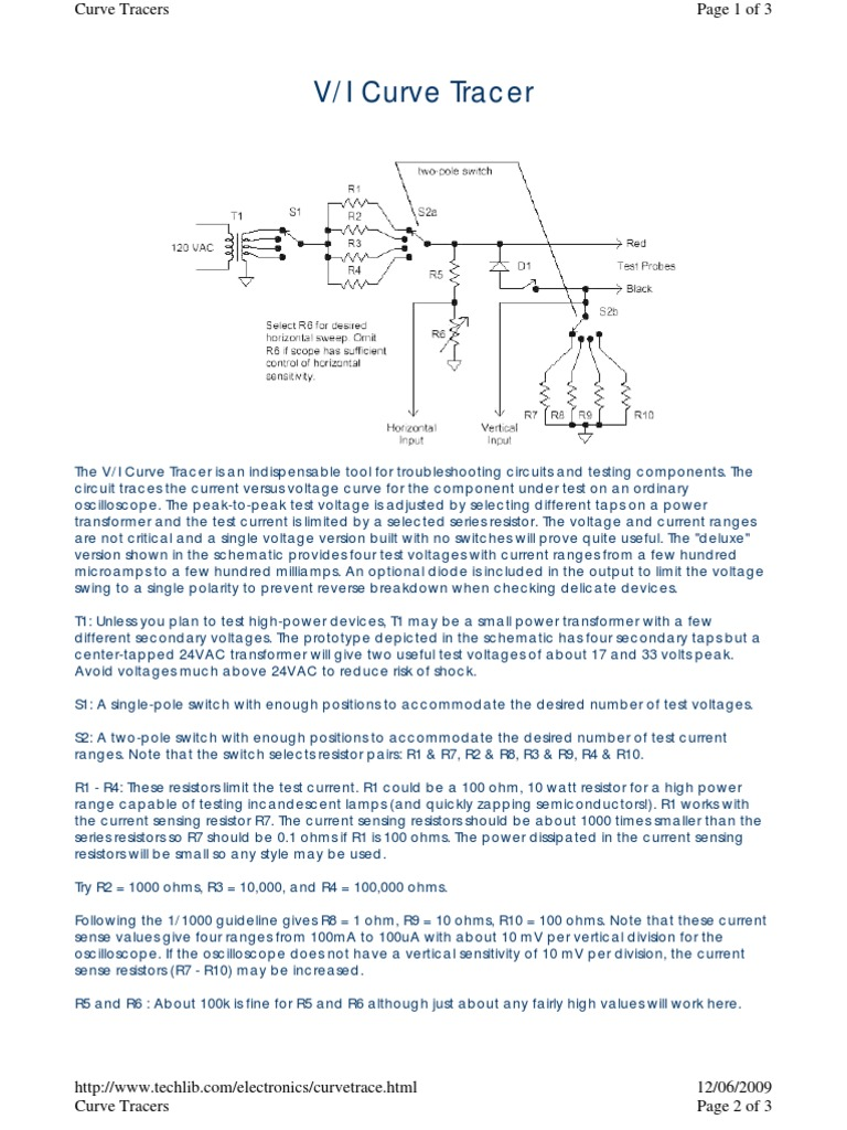 V-I Curve Tracer   Resistor   Diode