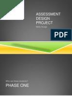 Assessment Design Project