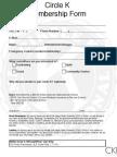 SDSU Circle K Membership Forms
