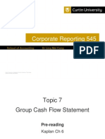 Topic 7 Group Cash Flow Statement