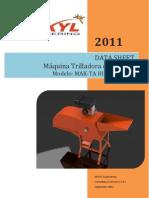 DATA SHEET MÁQUINA TRILLADORA DE ACHIOTE