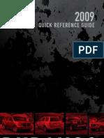 2009 Durango Quick Ref Guide