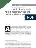 As Centrais Sindicais Brasileiras e a Reestruturação Produtiva