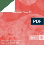 Programa Educación Física 3 Secundaria