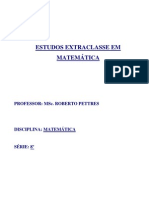 Matemática 8ª Professor Roberto Pettres