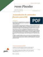 Acumulación de estímulos fiscales para ISR