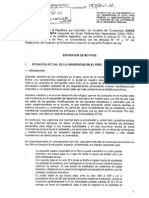 Nueva Ley Universitaria (Modificatoria en torno a la elección de autoridades en las Universidades Públicas)