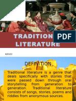 Role of Traditonal Literature (Full)