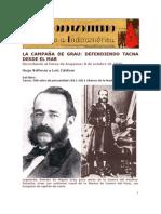 La campaña de Grau, defendiendo Tacna desde el mar. Por Hugo Vallenas y Luis Zaldívar