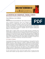 La epopeya de Tarapacá, Tacna y Arica. Por Hugo Vallenas y Luis Zaldívar