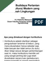 Budidaya Tanaman Hortikultura Ramah Lingkungan