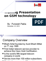 Training Pesentation on GSM Technology