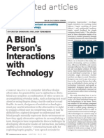 essay blindness visual impairment medicine a blind person interactions tech