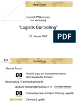 Vorlesung Logistik-Controlling BA Mosbach