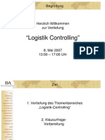 Vertiefung Logistik Controlling