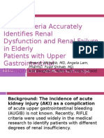 RIFLE Criteria Accurately Identifies Renal
